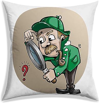 RADANYA Cartoon Print Throw Pillow Cushion Covers White(24x24 Inches)