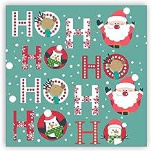 Yaya Cafe™ Christmas Gifts, Printed Ho Ho Ho Santa Claus Fridge Magnets - Square