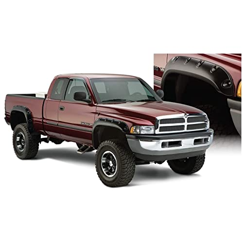 Pocket Style Smooth BLK ABS Rear /&Front 4PC Fender Flares by IKON MOTORSPORTS /1995 1996 1997 1998 1999 2000 Fender Fits 1994-2001 Ram1500 2500 3500