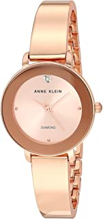 Women's Genuine Diamond Dial Bangle Watch, AK/3566