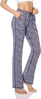 "HISKYWIN 28""/30""/32""/34"" Inseam Womens Bootcut Yoga Pants, 4 Pockets Non See-Through Bootleg Workout Pants"
