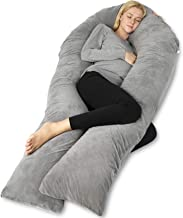 QUEEN ROSE Pregnancy Body Pillow, U-Shaped Maternity Pillow for Pregnant Women with Velour Cover,Great for Anyone, Dark Gray