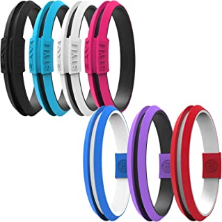 Silicone Sportswear Hair Tie Bracelet Ponytail Holder (Small Vivacious Pink)