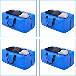 Heavy Duty Extra Large Storage Bags, XL Moving Bags for College Dorm Essentials, Moving Suppliers Compatible with IKEA Frakta Cart, 4 Packs