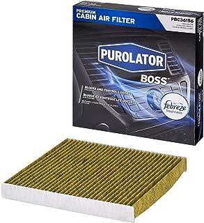 Purolator PBC36156 PurolatorBOSS Premium Cabin Air Filter with Febreze Freshness fits Select Dodge and Jeep