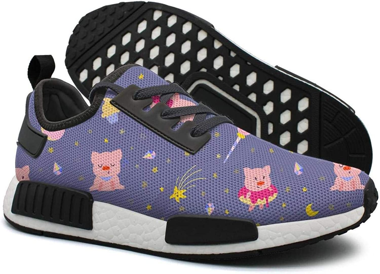 Cute Little Pigs On Night Sky Women's Cute Lightweight Tennis Sneakers Gym Outdoor Tennis shoes