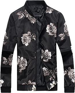Mens Slim Fit Jacket Lightweight Sportswear Casual Long Sleeve Jacket