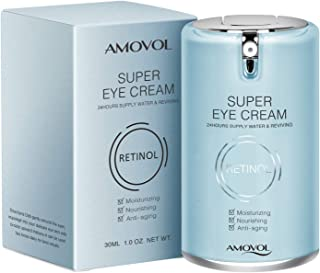 Eye Cream for Dark Circles and Puffiness with Retinol & Grape Seed Extract, Best Anti Aging Under Eye Treatment For Women & Men, Refreshing, Hydrating, Soothing, 1oz, Valentines Day Gifts for Her His