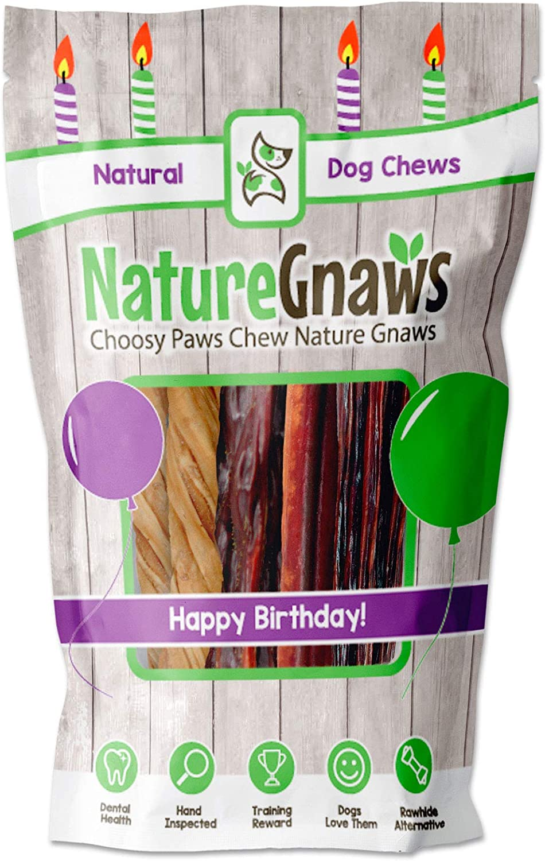 Nature Gnaws Popular Happy Birthday Dog Chews - Combo Natur Premium Pack Max 90% OFF