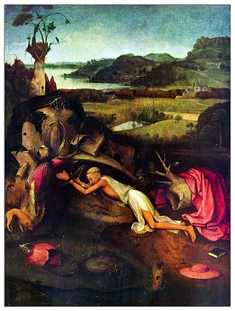 ArtPlaza TW93158 Bosch Hieronymus - St. Jerome Decorative Panel 27.5x35.5 Inch Multicolored