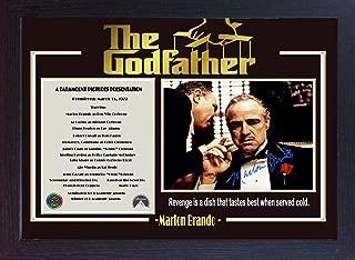 S&E DESING The Godfather Signed Marlon Brando Autograph Mario Puzo Francis Ford Coppola