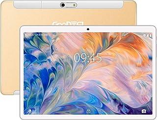 Tablet 10 Pulgadas GOODTEL G3 Tablets RAM de 4GB, ROM de 64GB, Quad-Core Cámara Dual 5.0+8.0 MP, Dual SIM 8000mAh Batería, WI-FI,Bluetooth,GPS,Trabajar,estudiar,Viajar Type-C Tablet Oro