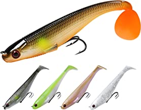 TRUSCEND Power Soft Fishing Lures Pre-Rigged BKK Hook,...