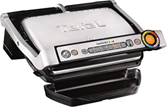 Tefal Optigrill for indoor electric grilling, 2000 watts, Stainless Steel, GC712D28