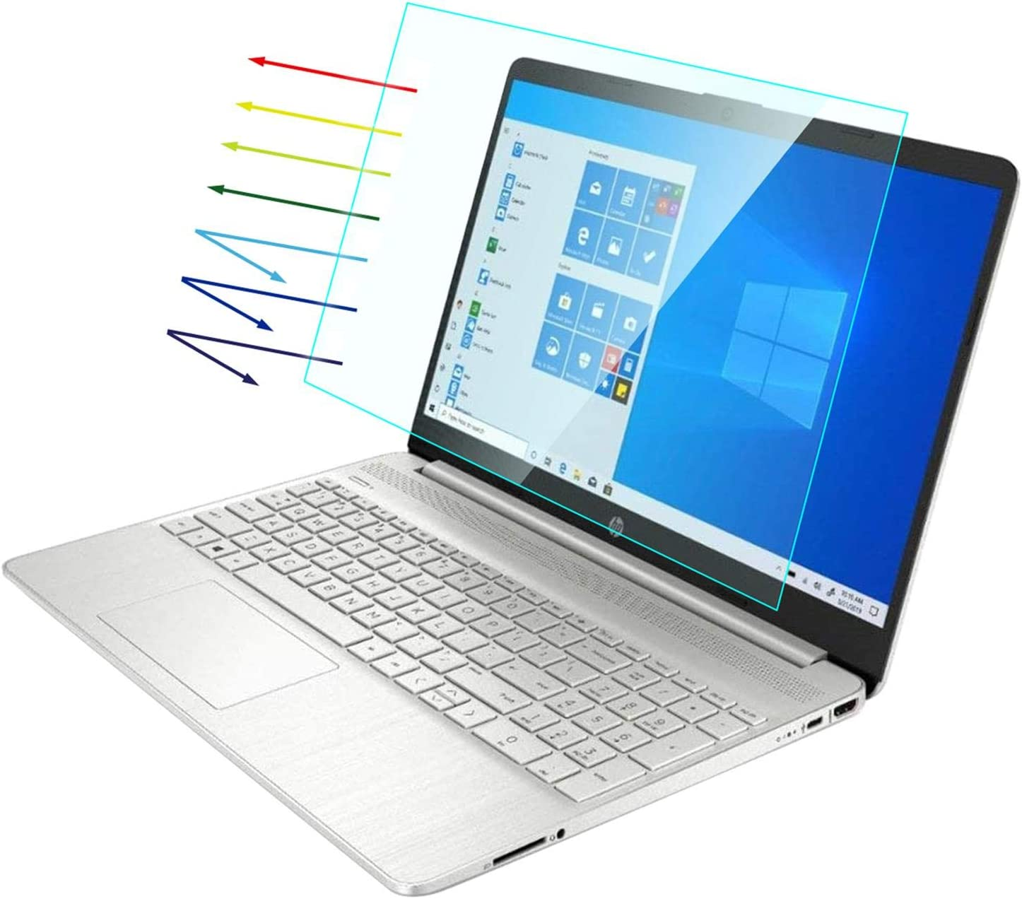 Lapogy[2PCS]17.3 Inch Anti Blue Light and Anti Glare Filter Laptop Screen Protector,Compatible With hp envy 17/pavilion 17/dell inspiron 17.3