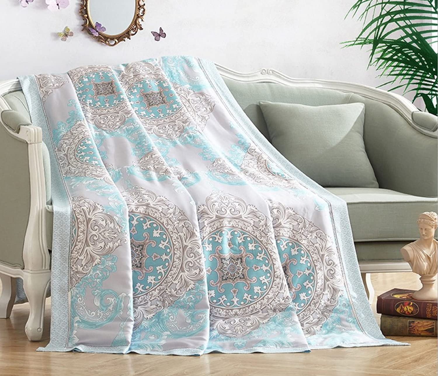Home Textiles New Tencel Summer is Cool in The Summer Cool in The Summer Quilt ZXCV (color   5, Size   200  230cm)