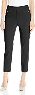 New York Women's Superstretch Fly Front Ankle Pant with Tab Pockets