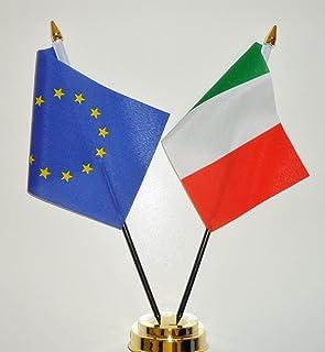 "Europese Unie en Italië Vriendschap Tafelvlag Display 25cm (10"")"
