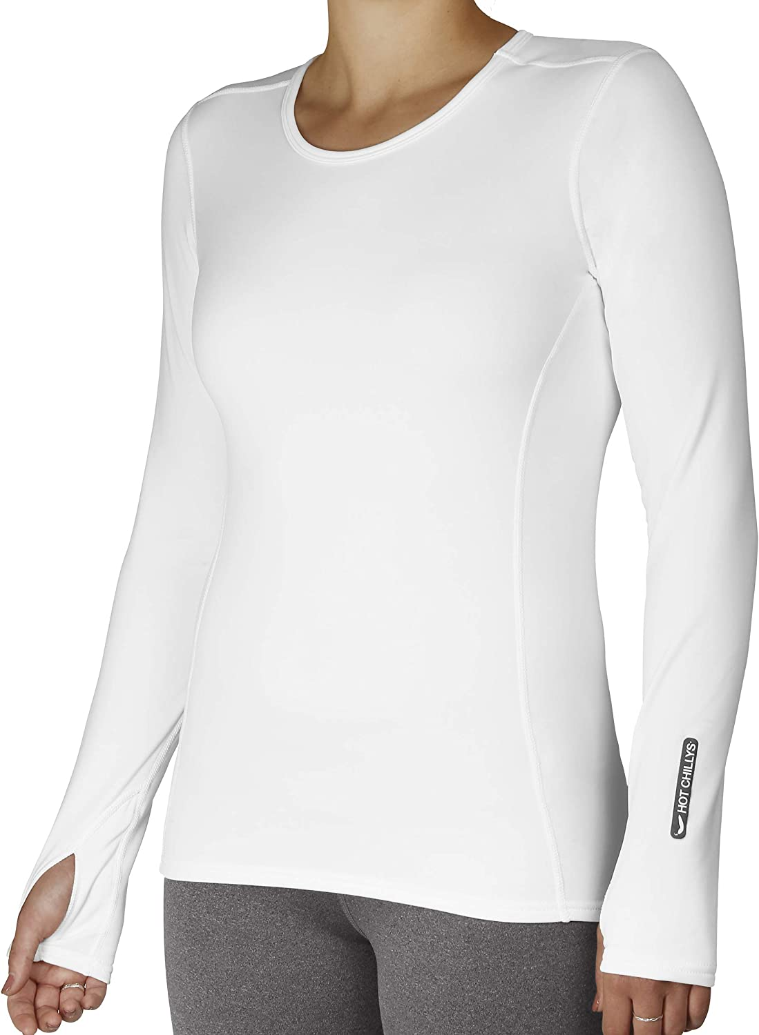Hot Chillys Womens Micro-Elite Crewneck Base Layer Top