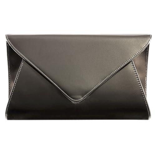 396b04d57d3 Pewter Clutch Bag: Amazon.co.uk