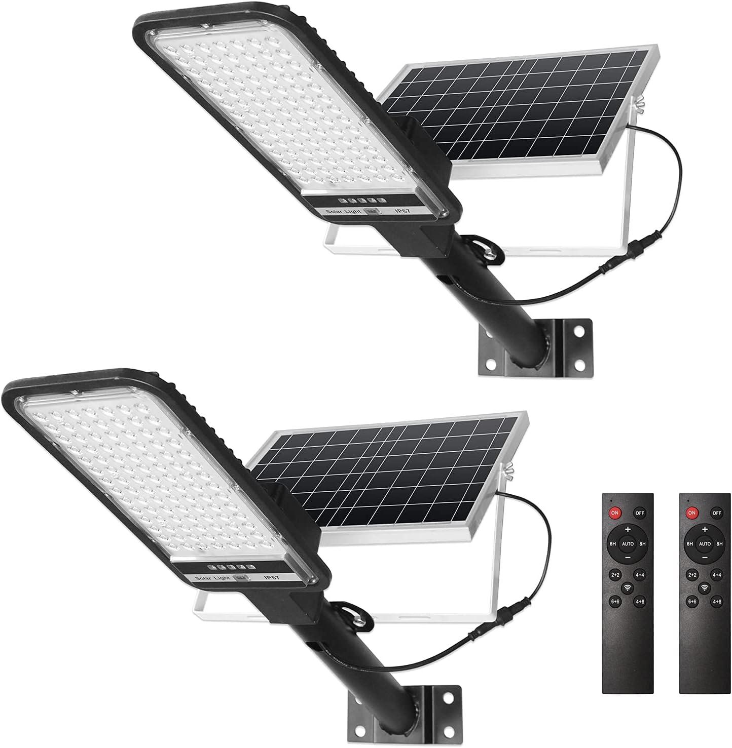 NIORSUN 100W Solar Street Lights 2 Flood Light Lig Ranking TOP19 Set Popular shop is the lowest price challenge Security