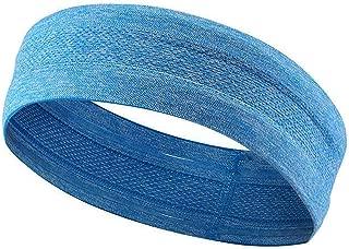 MRACSIY Diadema deportiva Sweatband para yoga Correr Ciclismo Baloncesto- Estiramiento de humedad Wicking Hairband