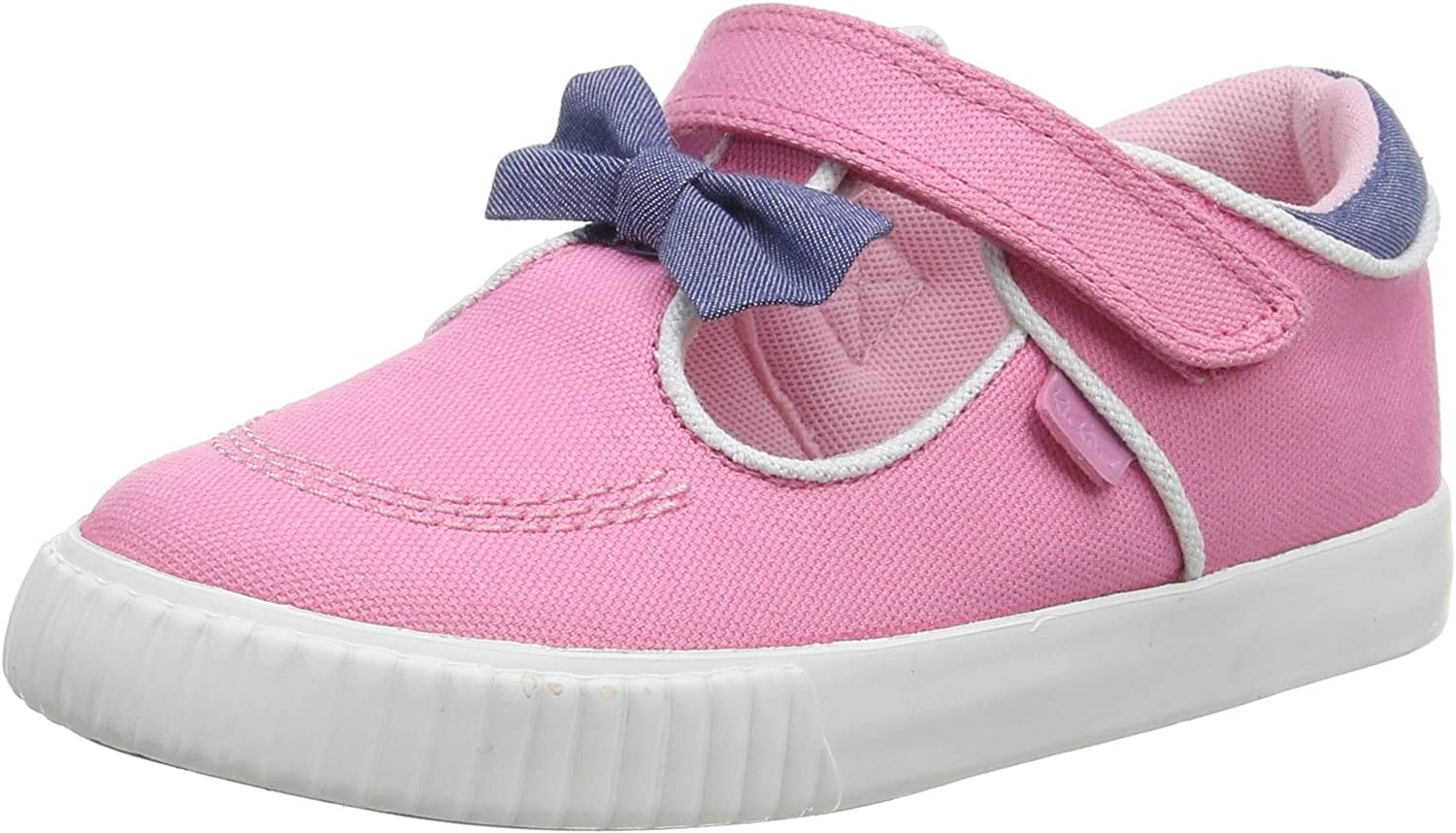 Kickers Girl's Tovni T-Bow Bumper Trainers, Pink Pink Pnk, 29