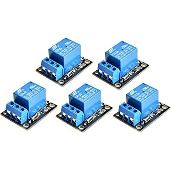 ICQUANZX 5PCS KY-019 5V One Channel Relay Module Board Shield For PIC AVR DSP ARM for arduino Relay