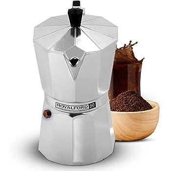 Cafetera italiana Royalford. Macchinetta tradicional con junta y filtro incluido (1 taza): Amazon.es: Hogar