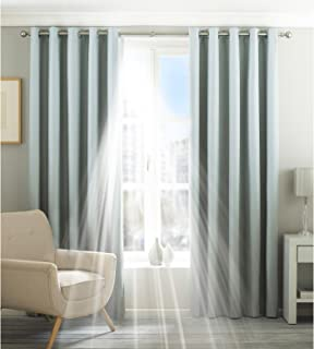Riva Home Eclipse Blackout Eyelet Curtains (66 x 54in (168 x 137cm)) (Duck Egg)