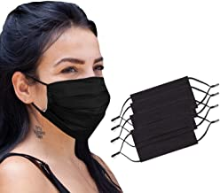 4 Pack Reusable Cloth Face Mask 2 Layer Cotton Pleated Mask Washable with Adjustable Elastic Ear Loops, Nose Wire and Filt...