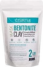 Bentonite Clay 32 oz. Healing Face Mask - Best Indian Cleansing Facial Mask for Pore Detox and Acne Treatment. Organic Natural Sodium, Calcium Facial Powder