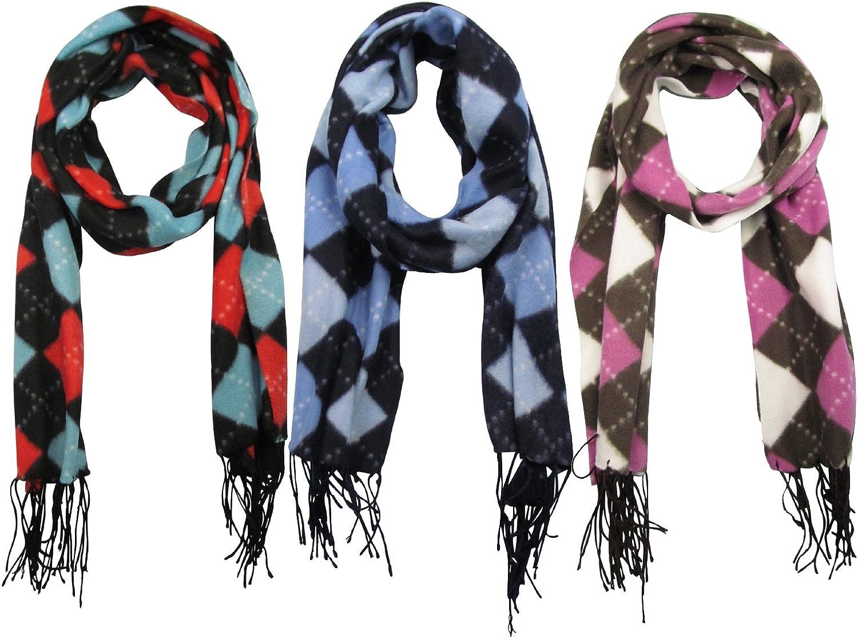 J.Ann Adults 3PK Winter Fashion Scarf, (Diamond, Combo1)