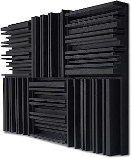 TroyStudio Acoustic Studio Panel de espuma de absorción – absorbente de sonido de banda ancha – Estructura de ranura perió...