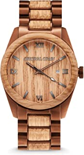 Original Grain Wood Watch | Classic Collection Analog Watch | Japanese Quartz Movement | Wood and Stainless Steel | 43MM