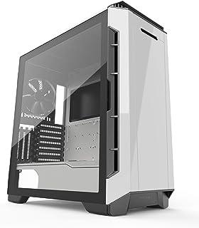 فانتونک Eclipse P600S هیبرید خاموش و عملکرد Chassis ATX - شیشه تست شده، فیلتر پارچه، پشتیبانی دوگانه سیستم، پیمایش PWM، پانلهای صدا خفه کن، Glacier White