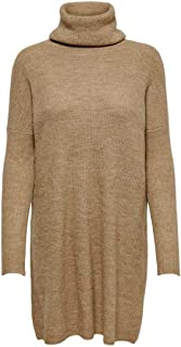 Only Onljana L/S Cowlnck Dress Wool Knt Noos Vestito Donna