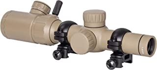 Monstrum 1-4x20 Rifle Scope with Rangefinder Reticle and High Profile Scope Rings