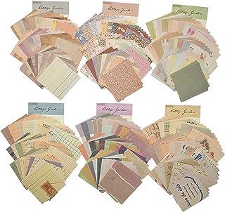 TSLBW 360 Feuilles Papier Scrapbooking Matériel de Papier à Motif Vintage Papier Mariage Vintage différentes Tailles et Fo...