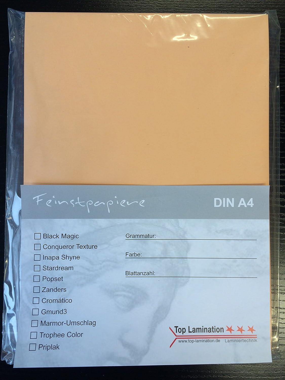 100 Blatt DIN A2 apricot Papier 170g m² von Top Lamination - komplett durchgefärbt B01LY57WDG  | Gewinnen Sie das Lob der Kunden