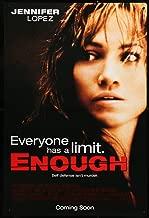ENOUGH Original release movie poster starring Jennifer Lopez 2002