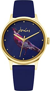 Joules Women's Quartz Watch with Silicone Strap, Blue (Model: JSL010UG)