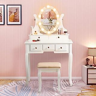 Amazon Com Vanities Vanity Benches White Vanities Vanity Benches Bedroom Furnitur Home Kitchen