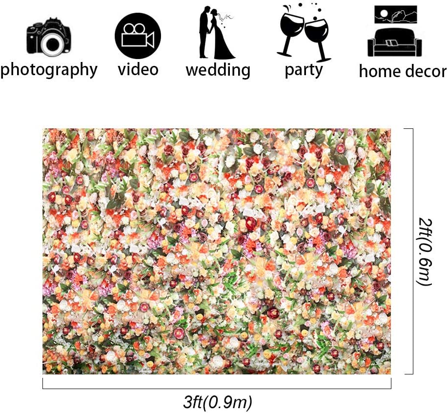 Green Leaves and Flowers Backdrops Wedding Floral Wall Photo ...