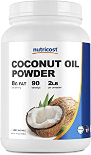 Nutricost Coconut Oil Powder 2 LBS, 90 Servings - Non-GMO and Gluten-Free - Premium Quality Made in The USA