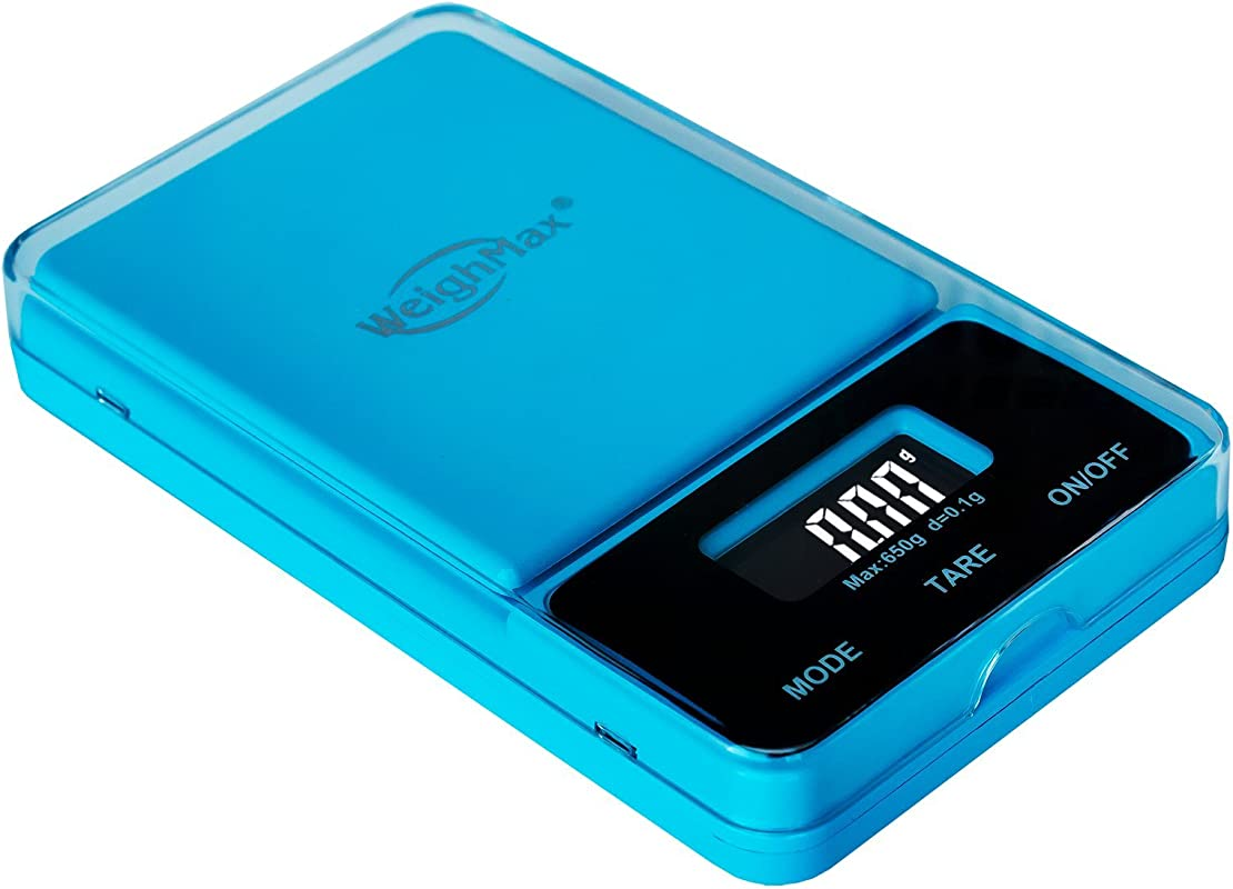 Weighmax NJ650 Blue Dream Series Digital Pocket Scale 650 By 0 1 G Blue