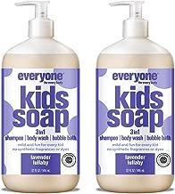 صابون 3 في 1 لكل طفل، يوفر شامبو وغسول للجسم وحمام فقاعات، آمن ولطيف وطبيعي من إفري وان 32 Ounce (2 Count)