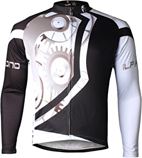 MANSTORE Men's Long Sleeve Cycling Jersey Bicycle Bike Riding Clothing