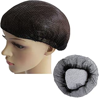 Reusable Hair Nets for Food Service or Sleeping, No Knot and Latex Free Elastic Edge Mesh (M, Black-10pcs)