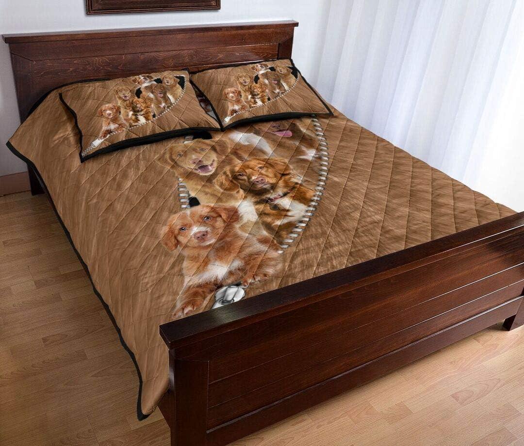 Personalized Max 76% OFF Nova Scotia Duck Tolling Zipper Bed Manufacturer regenerated product Retriever Quilt
